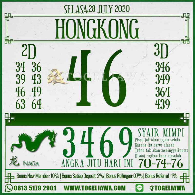 Prediksi Hongkong Tanggal 2020-07-28
