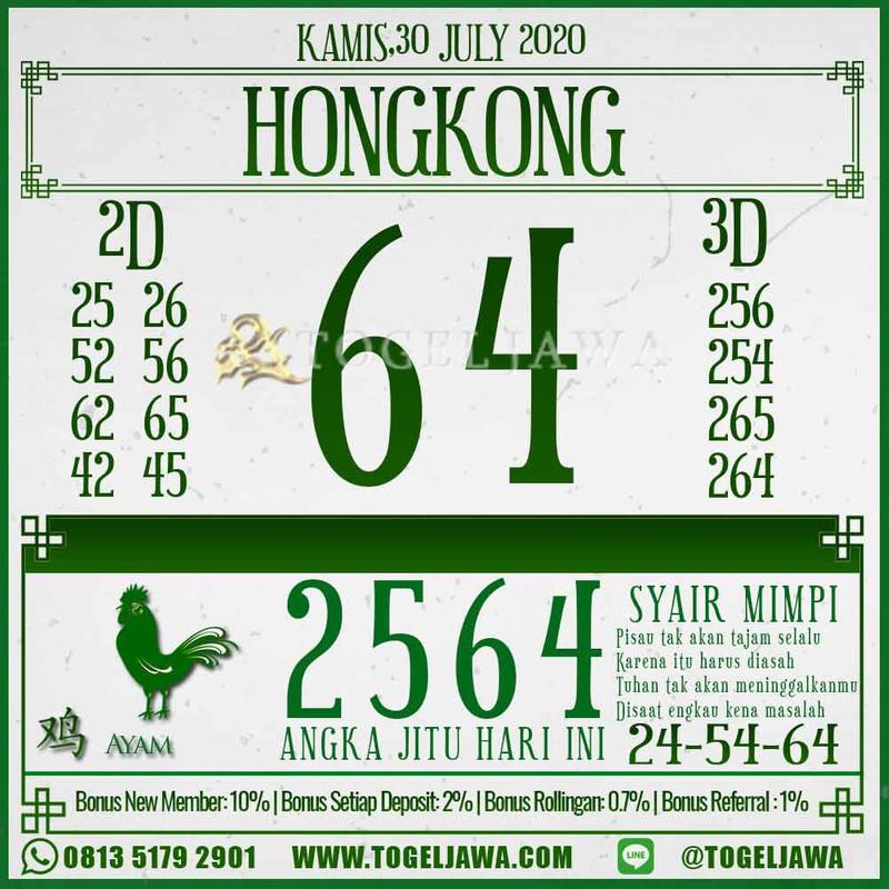 Prediksi Hongkong Tanggal 2020-07-30