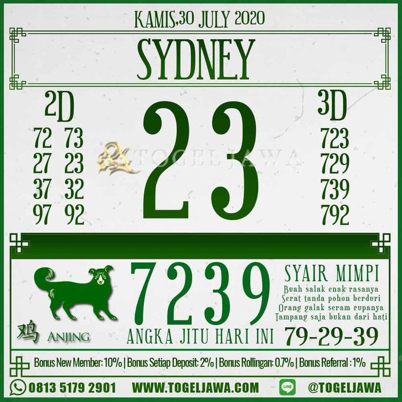 Prediksi Sydney Tanggal 2020-07-30