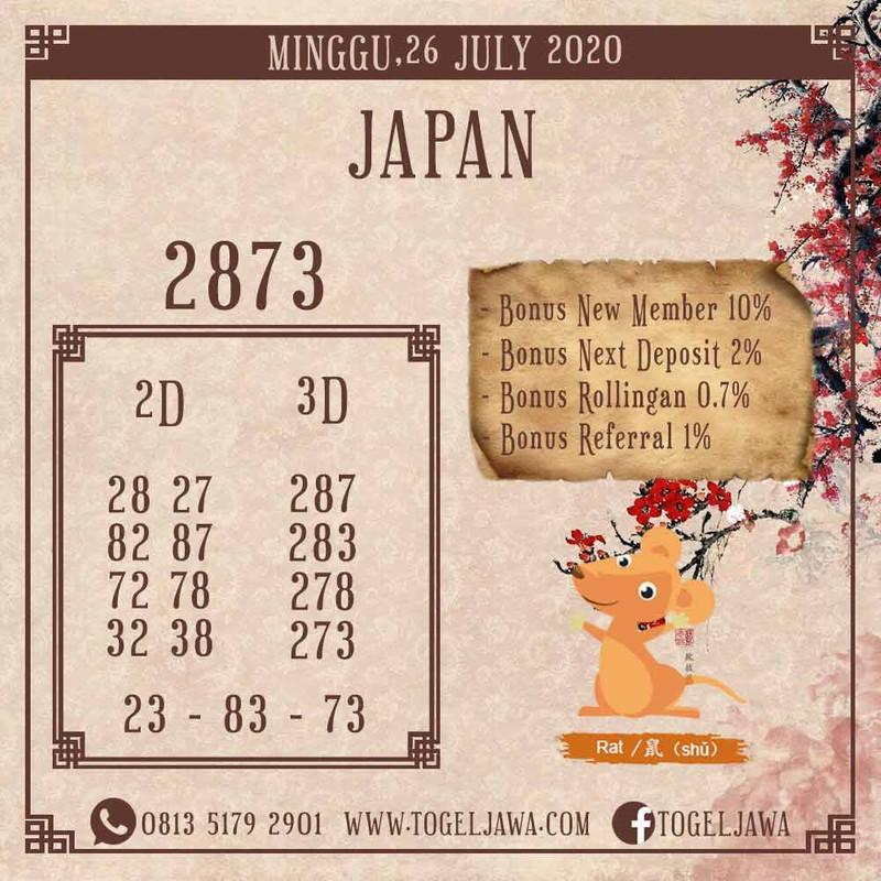 Prediksi Japan Tanggal 2020-07-26