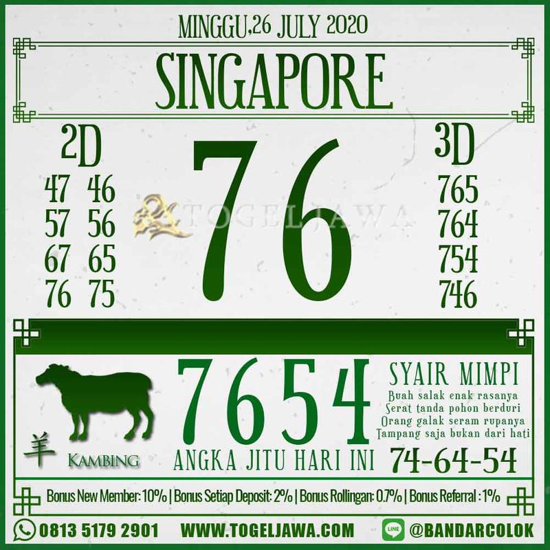 Prediksi Singapore Tanggal 2020-07-26