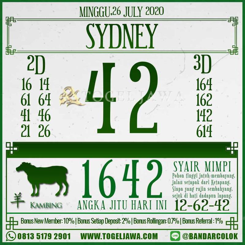 Prediksi Sydney Tanggal 2020-07-26