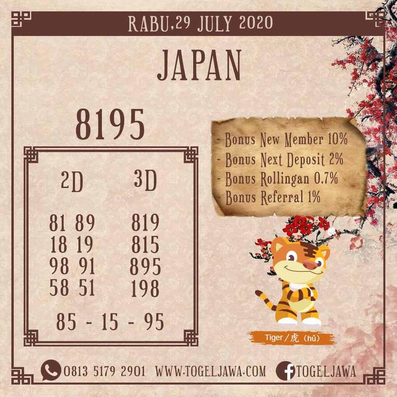 Prediksi Japan Tanggal 2020-07-29