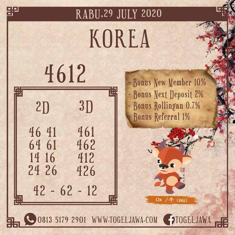 Prediksi Korea Tanggal 2020-07-29