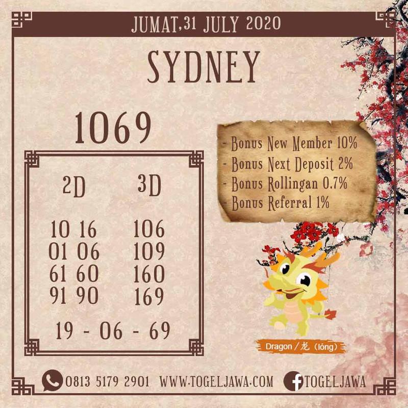 Prediksi Sydney Tanggal 2020-07-31