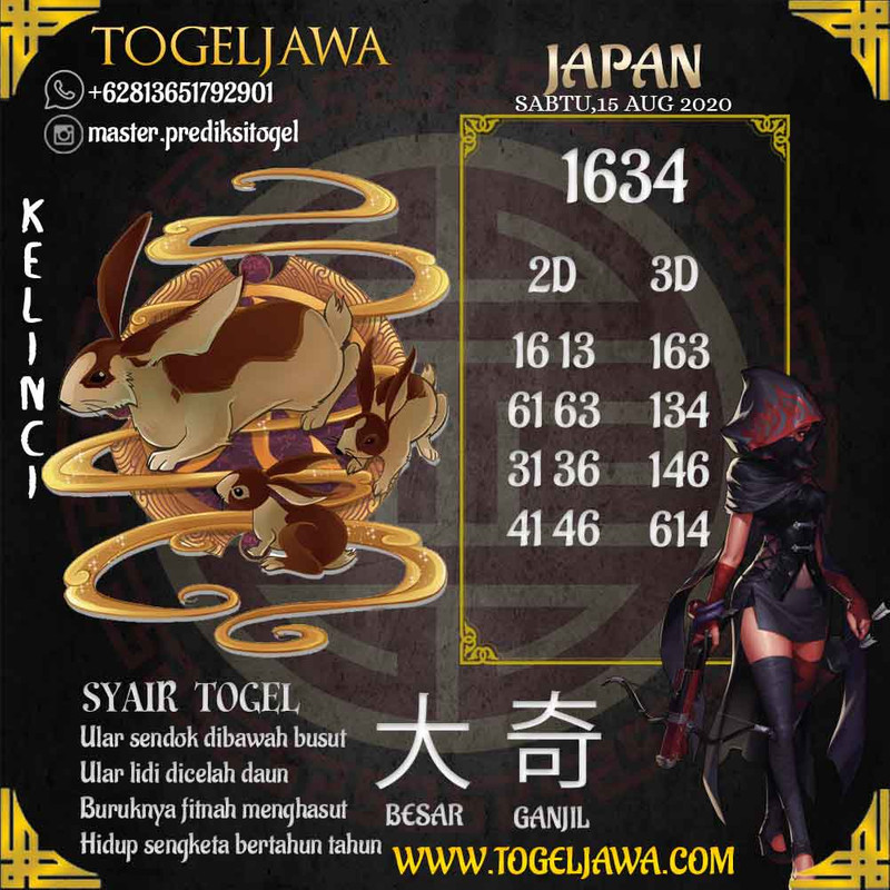 Prediksi Japan Tanggal 2020-08-15