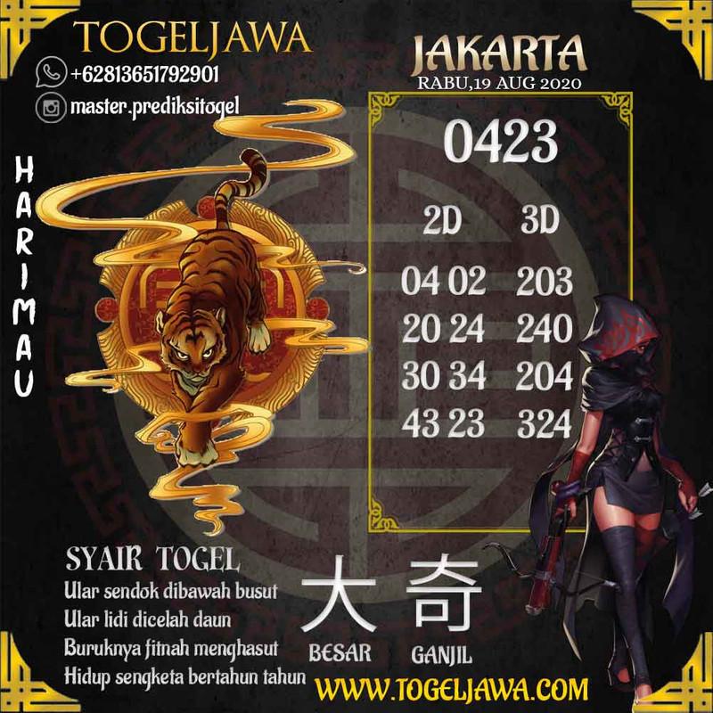 Prediksi Jakarta Tanggal 2020-08-19