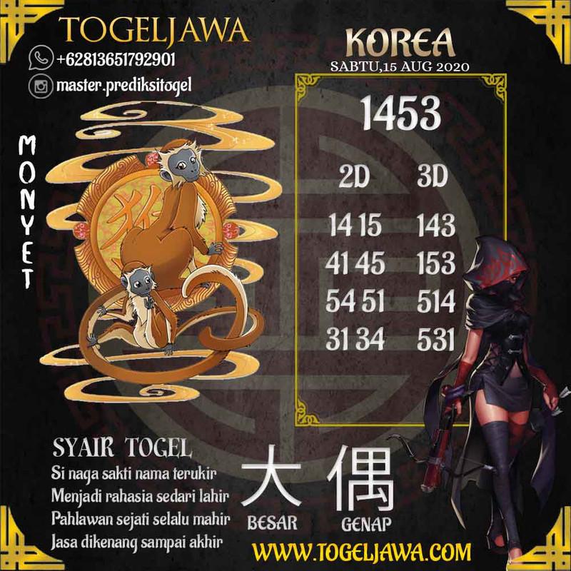 Prediksi Korea Tanggal 2020-08-15