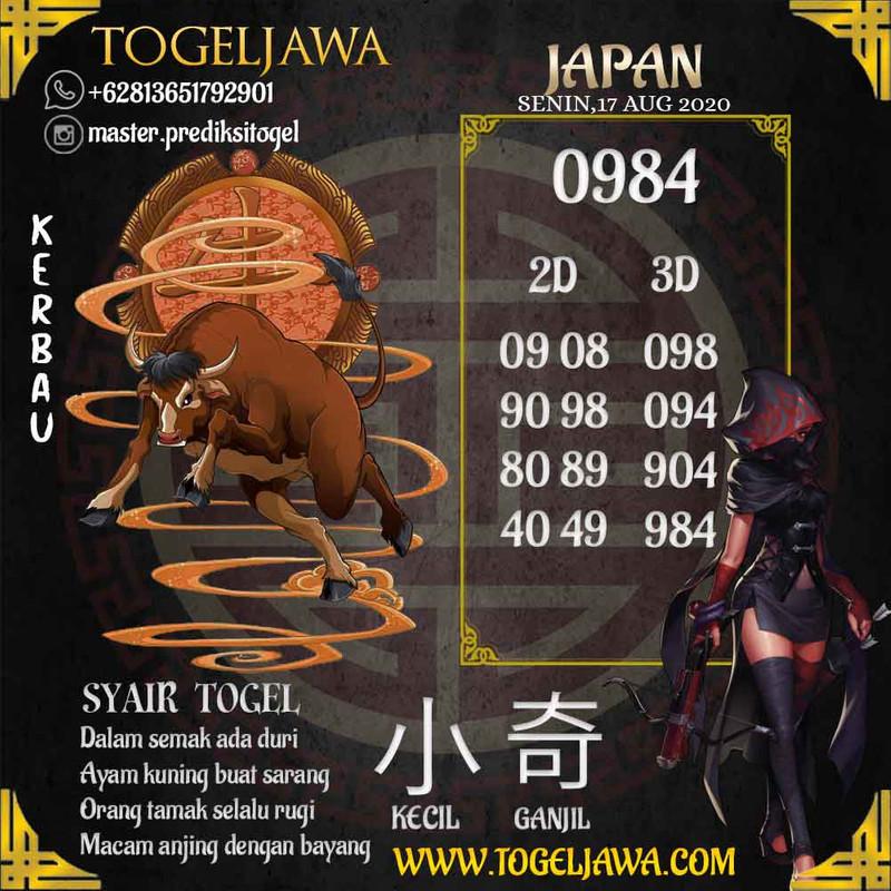 Prediksi Japan Tanggal 2020-08-17