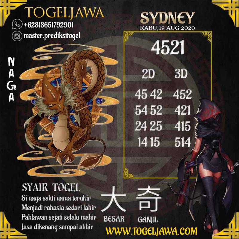 Prediksi Sydney Tanggal 2020-08-19