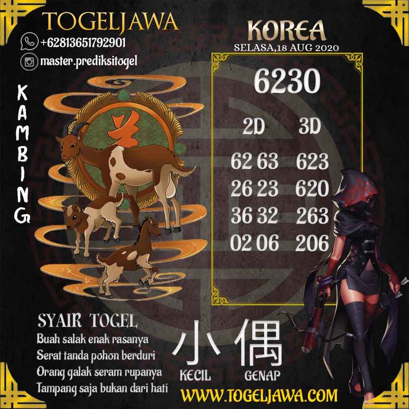 Prediksi Korea Tanggal 2020-08-18