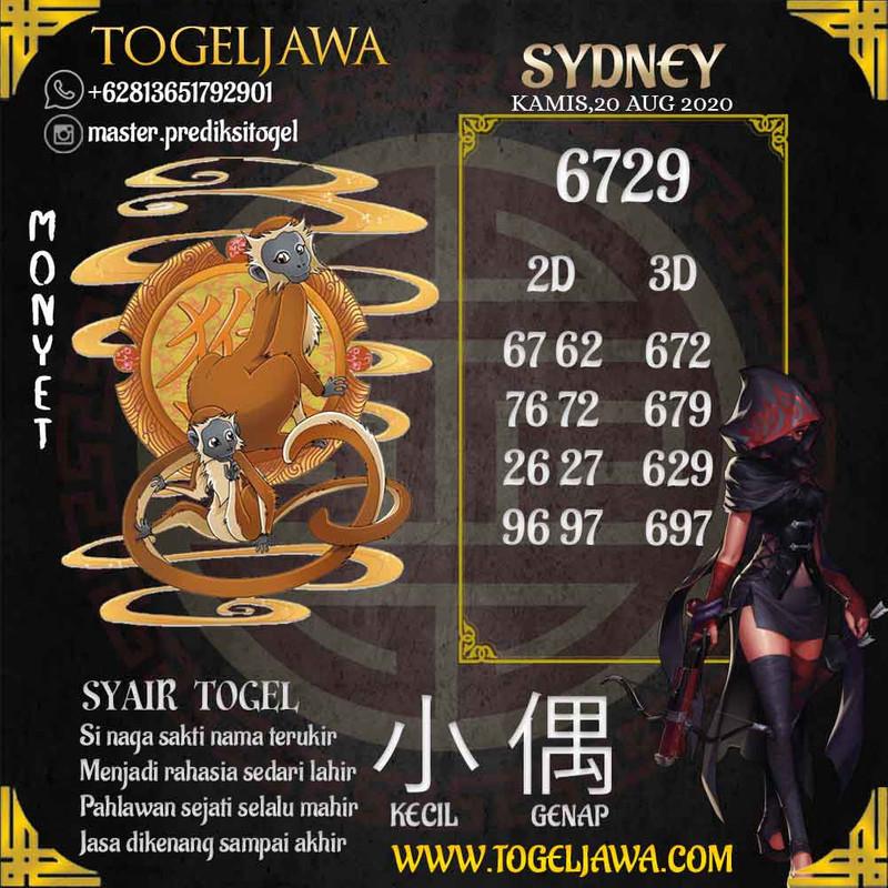 Prediksi Sydney Tanggal 2020-08-20