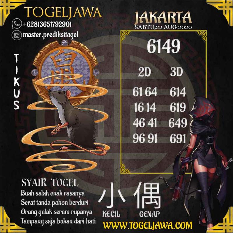 Prediksi Jakarta Tanggal 2020-08-22