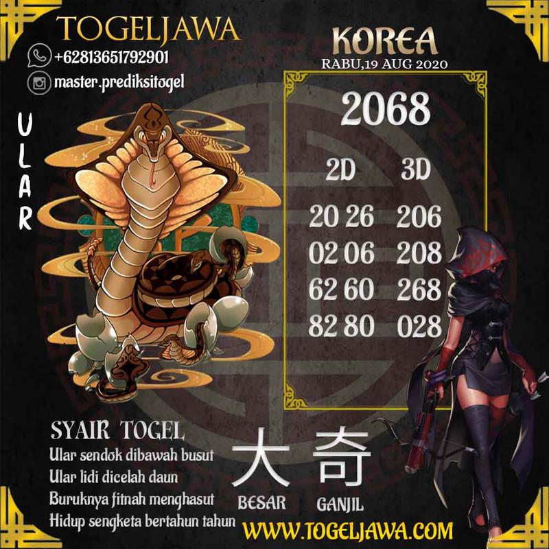 Prediksi Korea Tanggal 2020-08-19