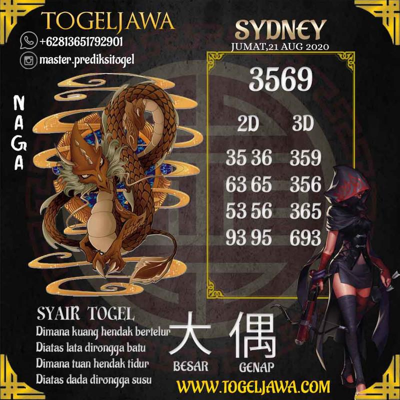 Prediksi Sydney Tanggal 2020-08-21