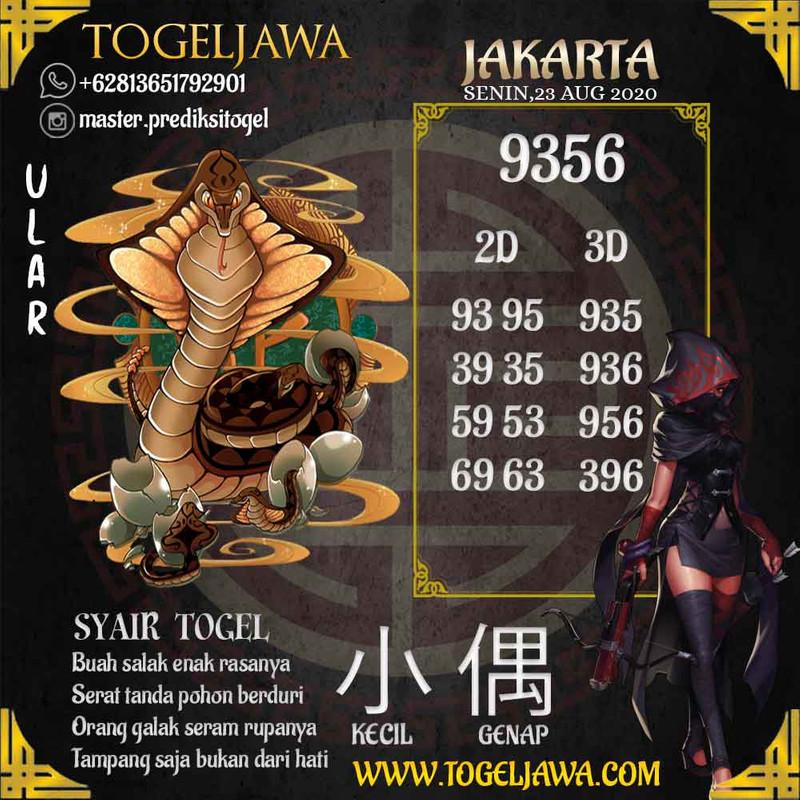 Prediksi Jakarta Tanggal 2020-08-23