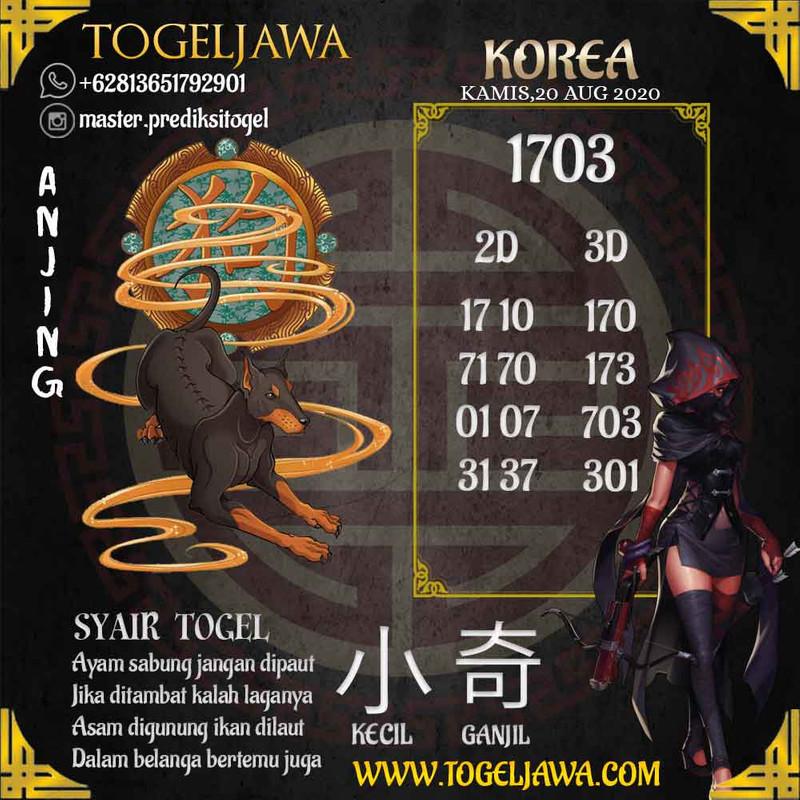 Prediksi Korea Tanggal 2020-08-20