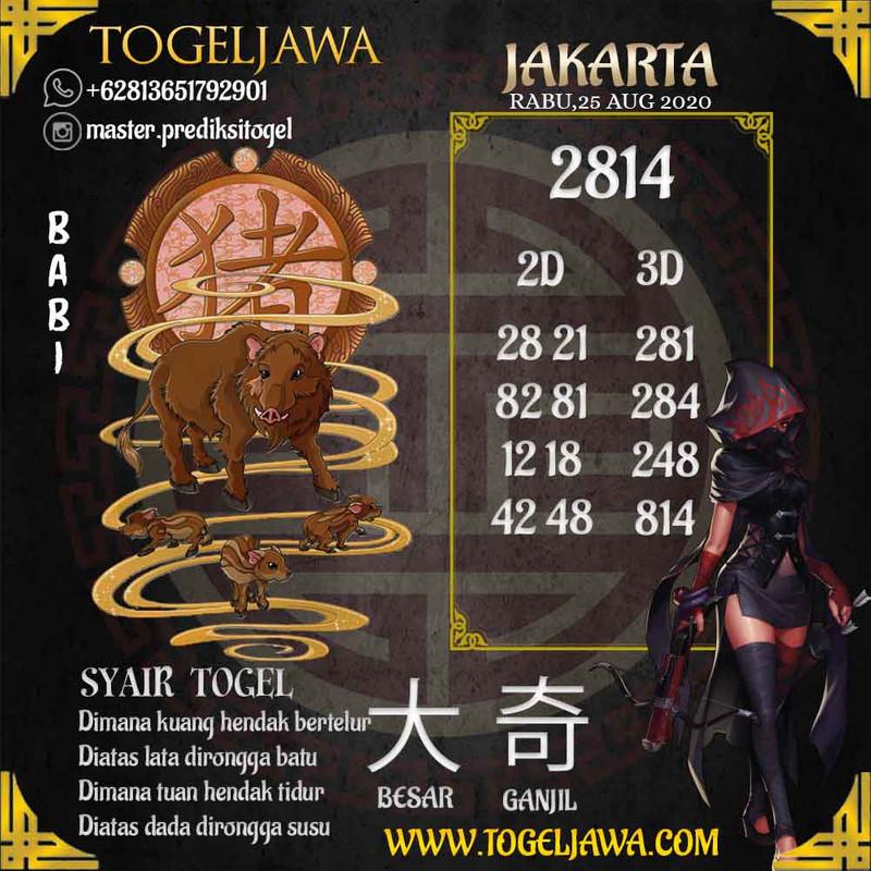 Prediksi Jakarta Tanggal 2020-08-25