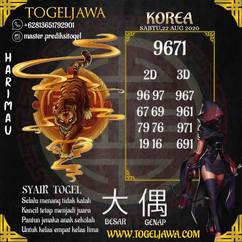 Prediksi Korea Tanggal 2020-08-22