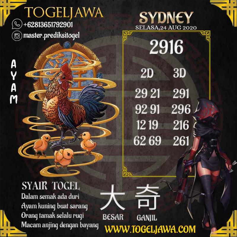 Prediksi Sydney Tanggal 2020-08-24