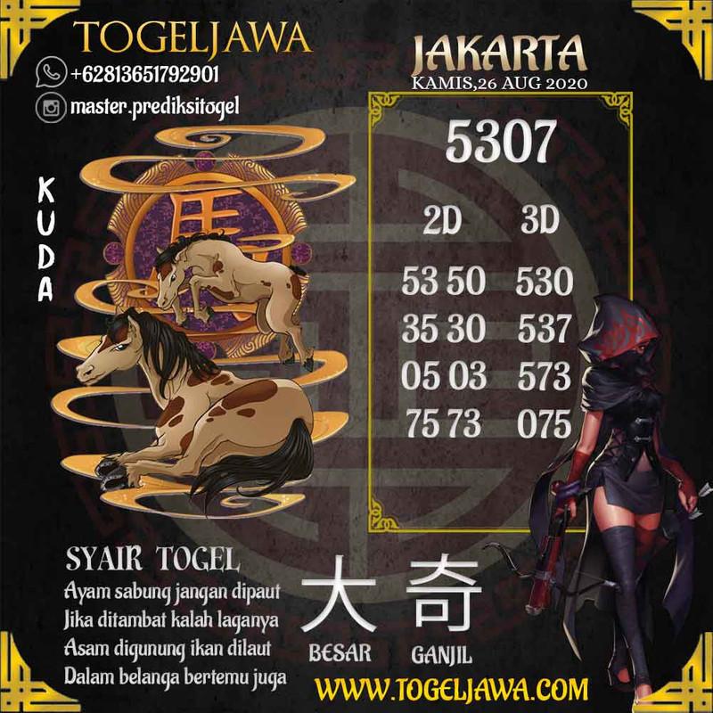 Prediksi Jakarta Tanggal 2020-08-26