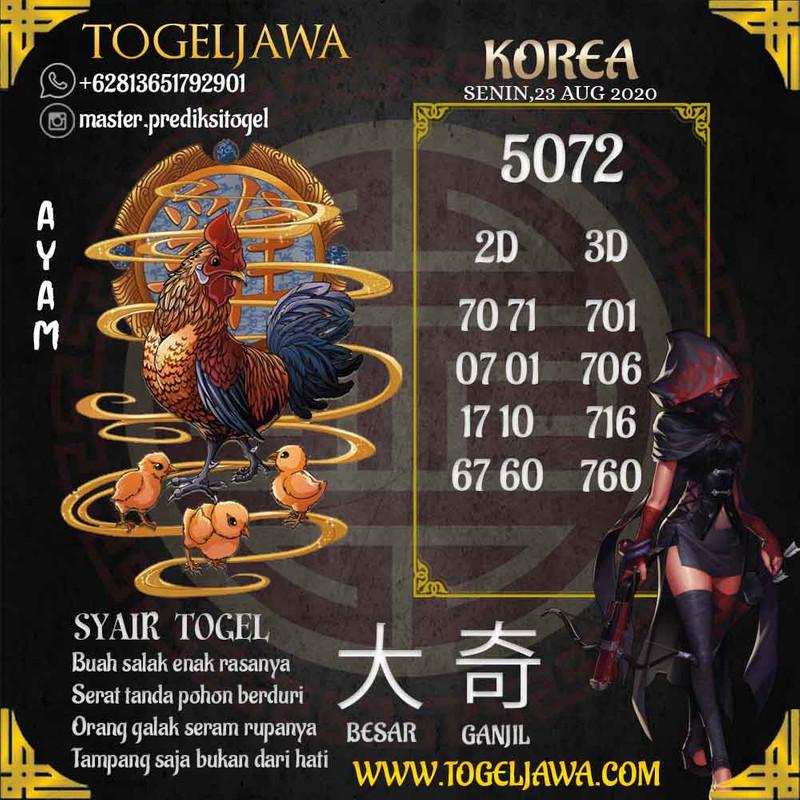 Prediksi Korea Tanggal 2020-08-23