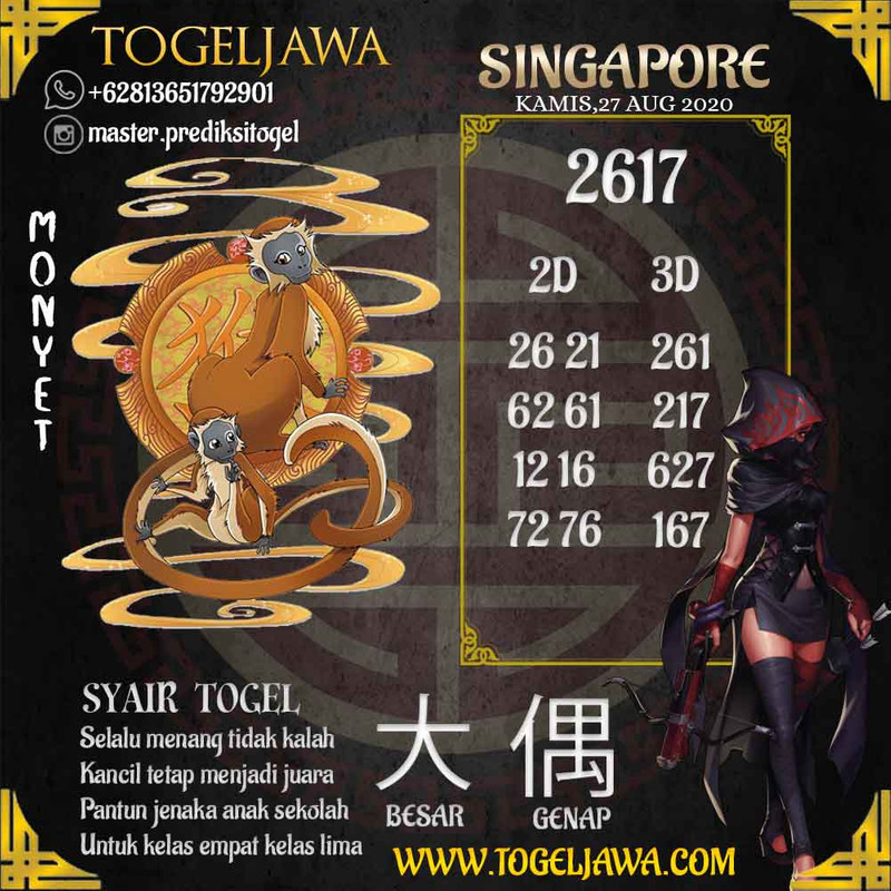 Prediksi Singapore Tanggal 2020-08-27