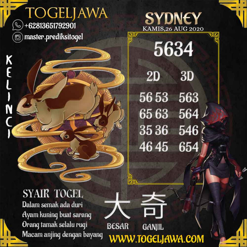 Prediksi Sydney Tanggal 2020-08-26