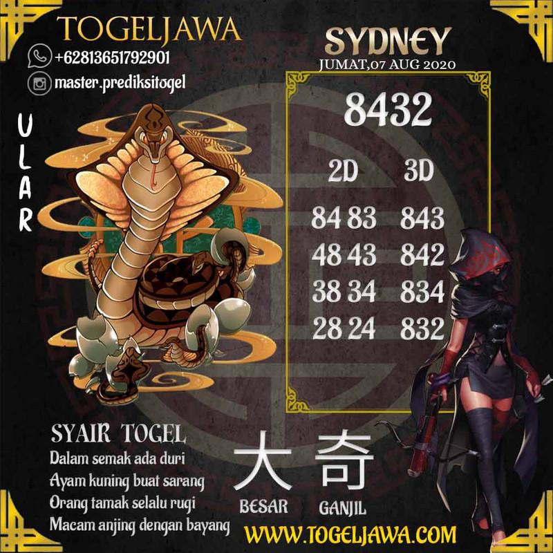 Prediksi Sydney Tanggal 2020-08-07
