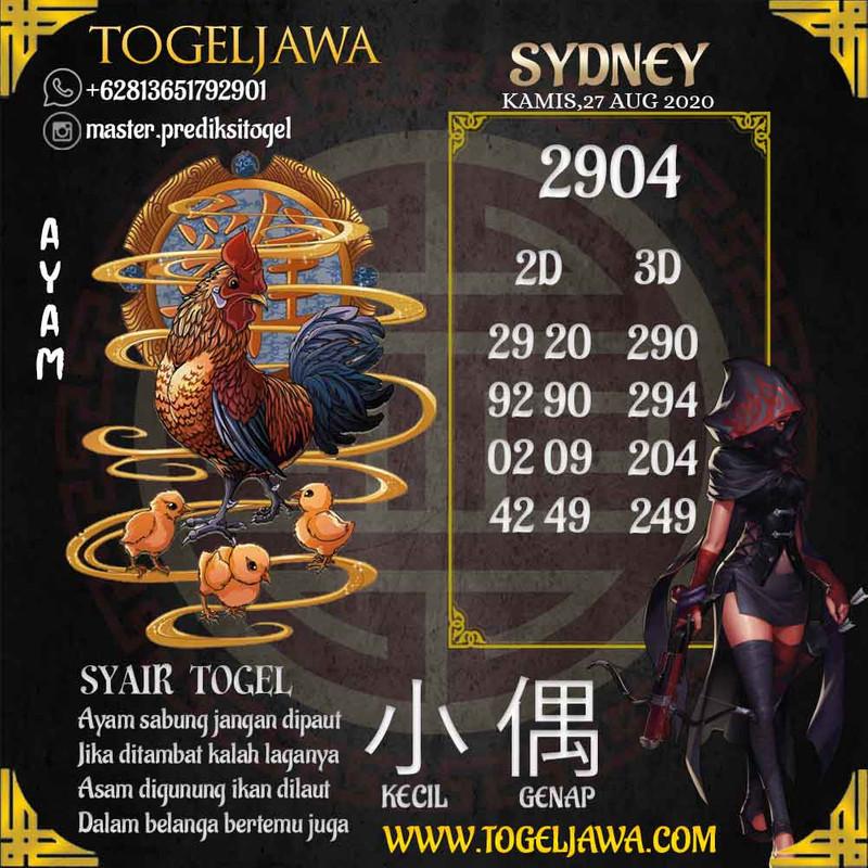 Prediksi Sydney Tanggal 2020-08-27
