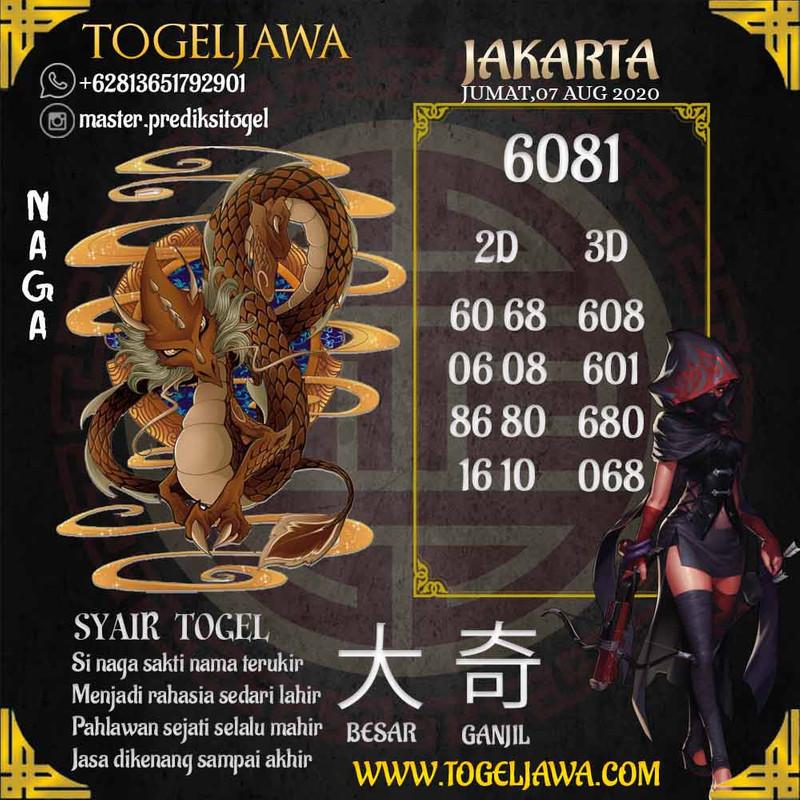 Prediksi Jakarta Tanggal 2020-08-07