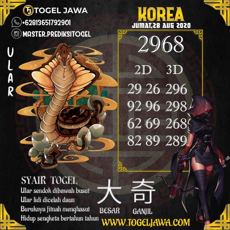 Prediksi Korea Tanggal 2020-08-28