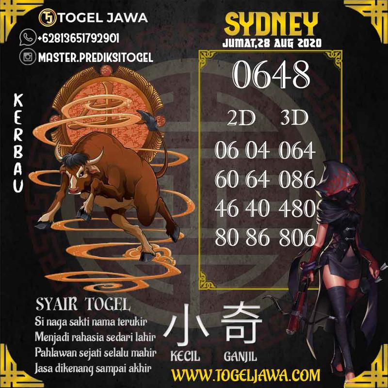 Prediksi Sydney Tanggal 2020-08-28