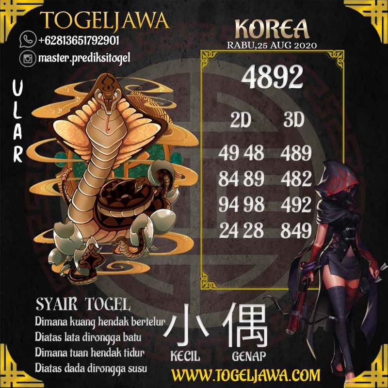 Prediksi Korea Tanggal 2020-08-25