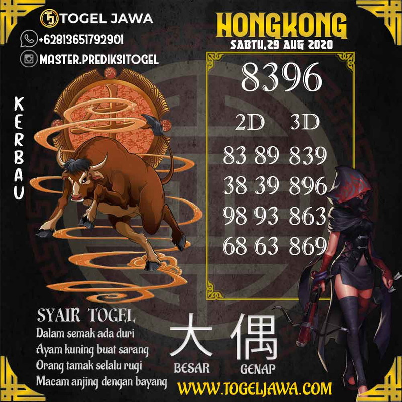 Prediksi Hongkong Tanggal 2020-08-29