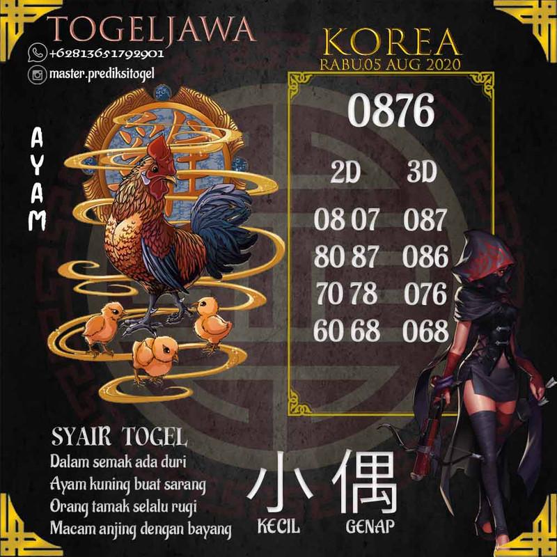 Prediksi Korea Tanggal 2020-08-05