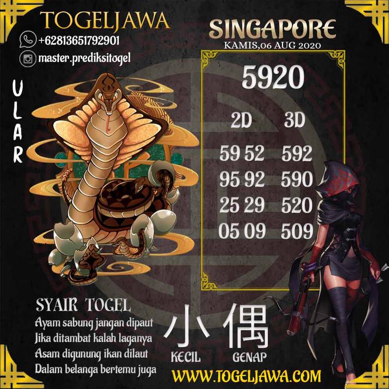 Prediksi Singapore Tanggal 2020-08-06