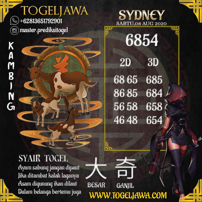 Prediksi Sydney Tanggal 2020-08-08