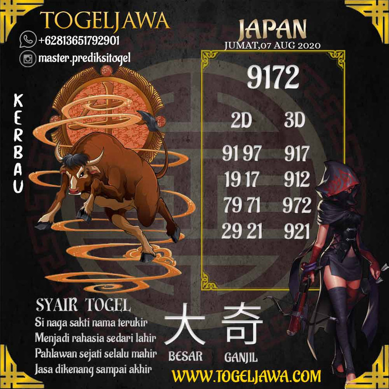 Prediksi Japan Tanggal 2020-08-07