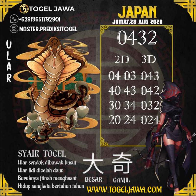 Prediksi Japan Tanggal 2020-08-28