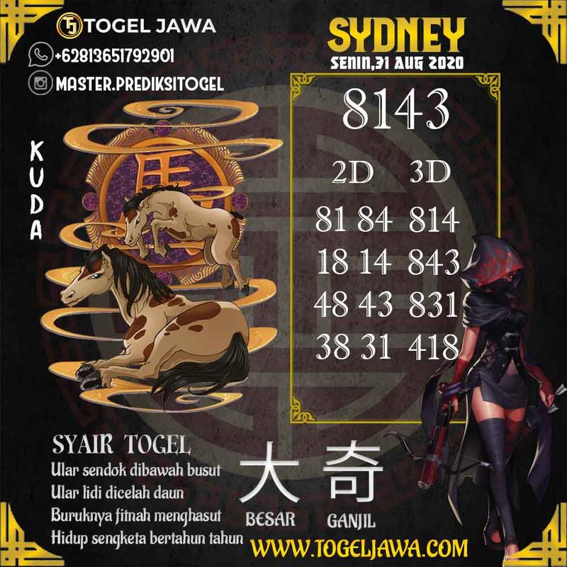 Prediksi Sydney Tanggal 2020-08-31