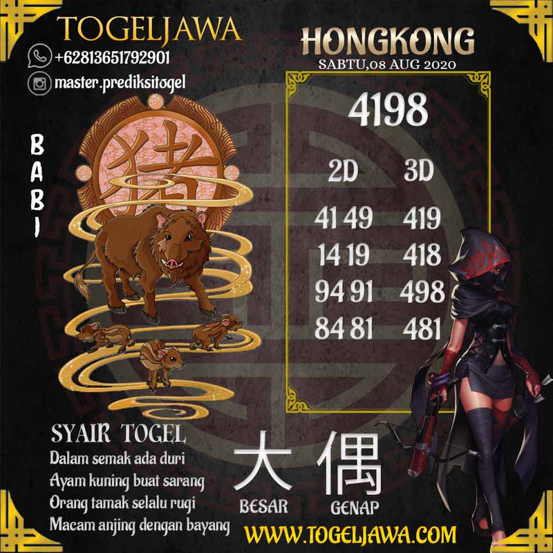 Prediksi Hongkong Tanggal 2020-08-08