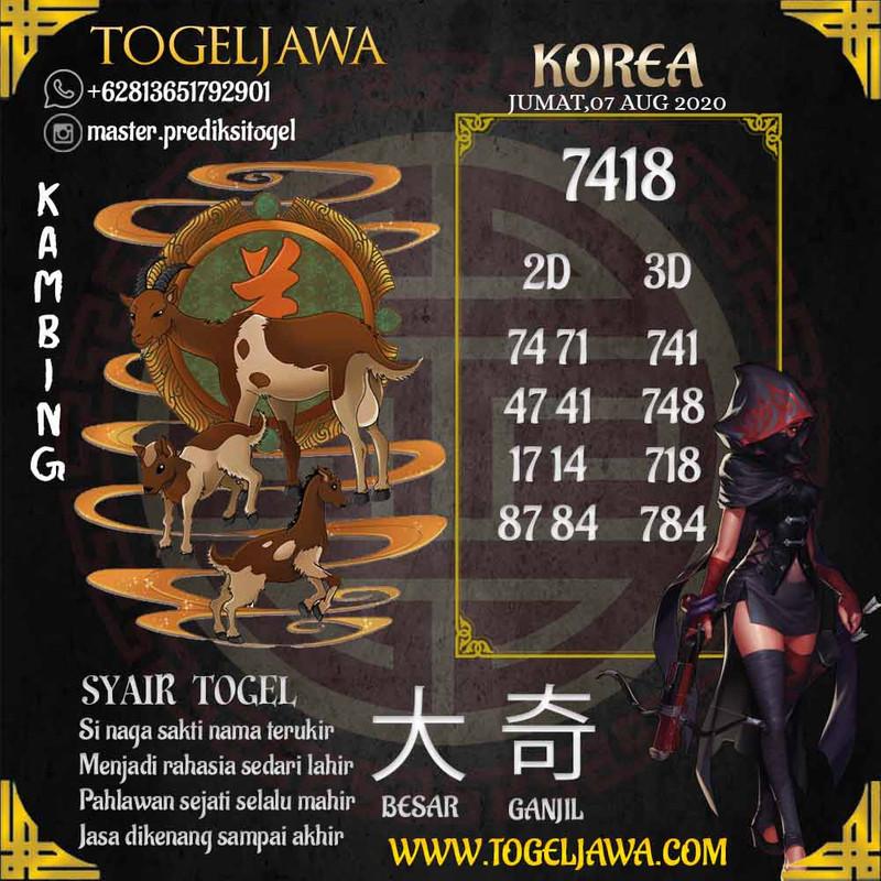 Prediksi Korea Tanggal 2020-08-07