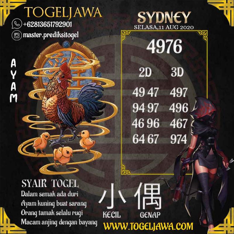 Prediksi Sydney Tanggal 2020-08-11