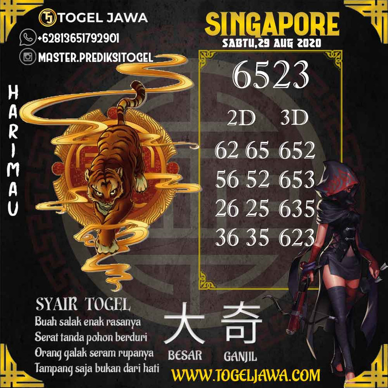 Prediksi Singapore Tanggal 2020-08-29