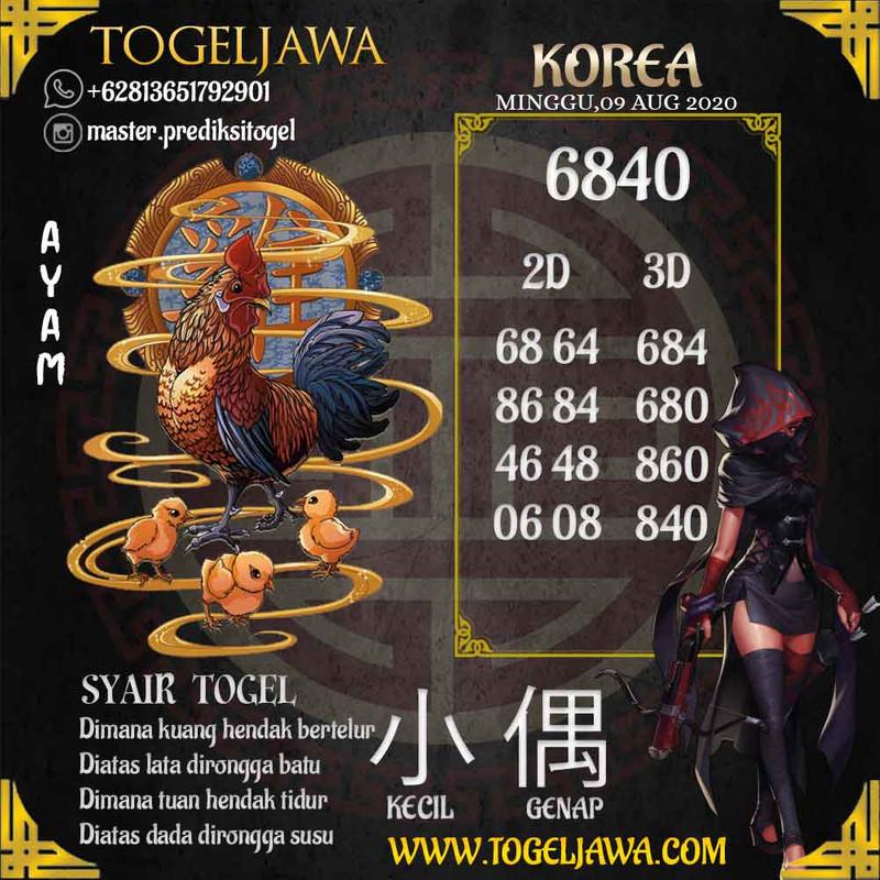 Prediksi Korea Tanggal 2020-08-09