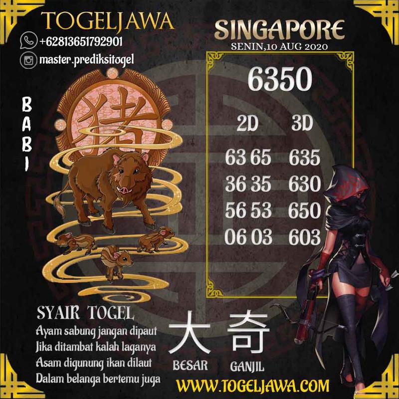 Prediksi Singapore Tanggal 2020-08-10