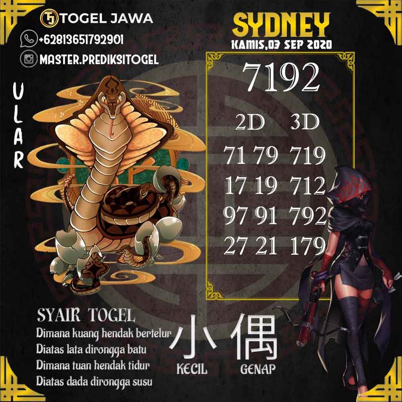 Prediksi Sydney Tanggal 2020-09-03