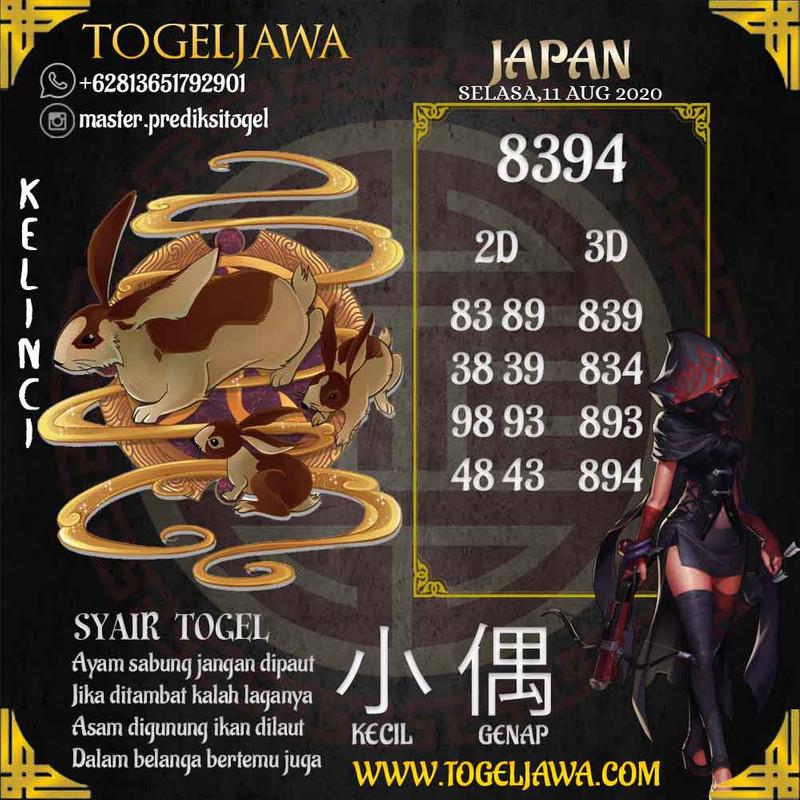 Prediksi Japan Tanggal 2020-08-11