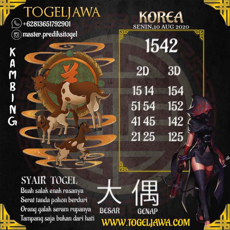 Prediksi Korea Tanggal 2020-08-10